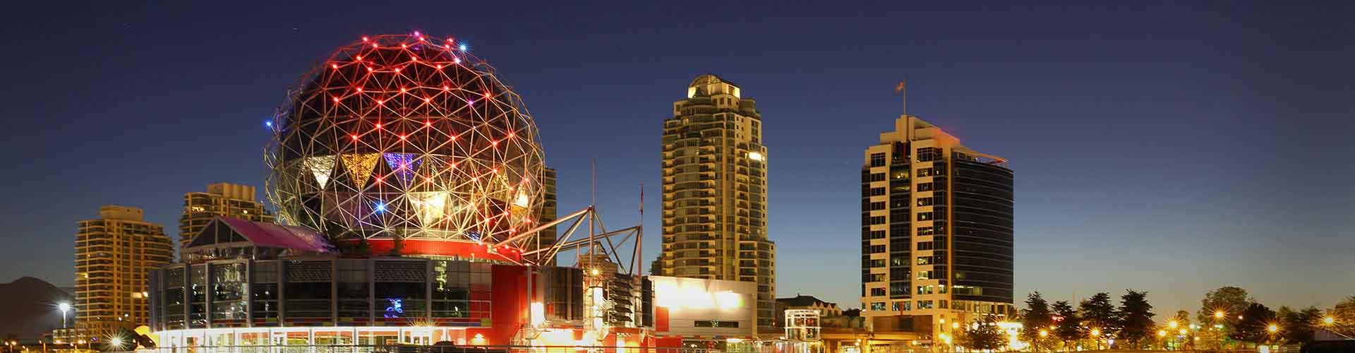 Vancouver - Hôtels dans le quartier de Coal Harbour. Cartes pour Vancouver, photos et commentaires pour chaque hôtel à Vancouver.