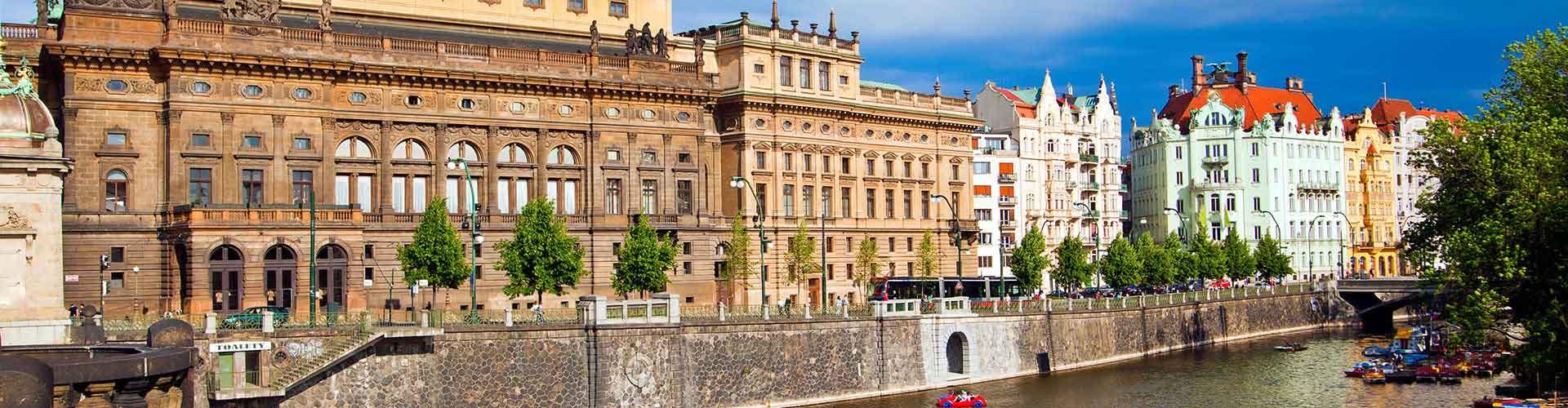 Prague - Chambres près de Théâtre National. Cartes pour Prague, photos et commentaires pour chaque chambre à Prague.