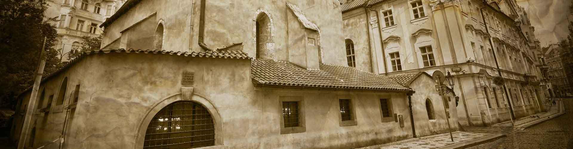 Prague - Chambres près de Vieille Nouvelle Synagogue. Cartes pour Prague, photos et commentaires pour chaque chambre à Prague.