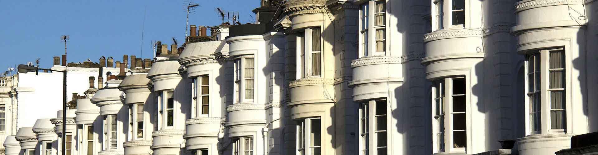 Londres - Auberges de jeunesse dans le quartier de Bayswater. Cartes pour Londres, photos et commentaires pour chaque auberge de jeunesse à Londres.