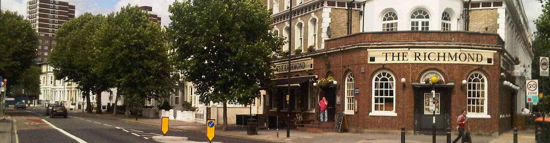 Londres - Auberges de jeunesse dans le quartier de Arrondissement de Hammersmith et Fulham. Cartes pour Londres, photos et commentaires pour chaque auberge de jeunesse à Londres.