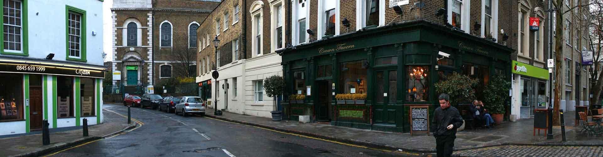 Londres - Hôtels dans le quartier de Clerkenwell. Cartes pour Londres, photos et commentaires pour chaque hôtel à Londres.