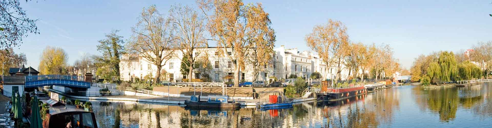 Londres - Appartements dans le quartier de Little Venice. Cartes pour Londres, photos et commentaires pour chaque appartement à Londres.