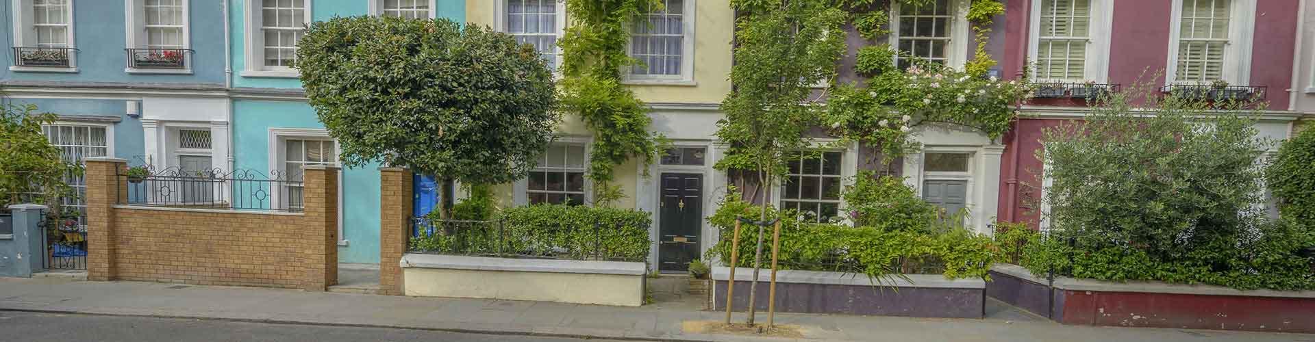 Londres - Chambres pas chères dans le quartier de Colline de Notting. Cartes pour Londres, photos et commentaires pour chaque chambre à Londres.