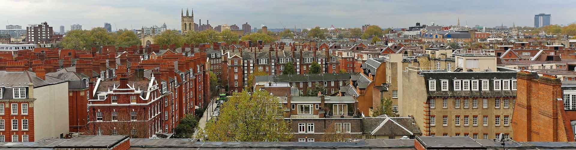 Londres - Auberges de jeunesse dans le quartier de Kensington Sud. Cartes pour Londres, photos et commentaires pour chaque auberge de jeunesse à Londres.