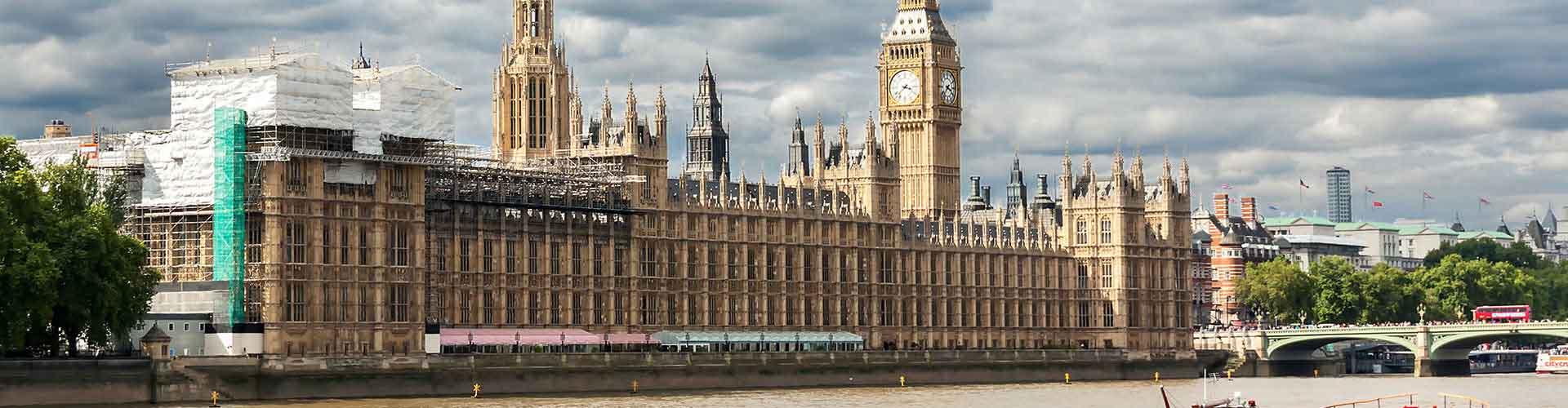Londres - Auberges de jeunesse près de Palais de Westminster. Cartes pour Londres, photos et commentaires pour chaque auberge de jeunesse à Londres.
