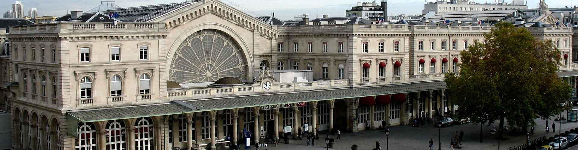 Paris - Appartements dans le quartier de Gare de l'Est. Cartes pour Paris, photos et commentaires pour chaque appartement à Paris.