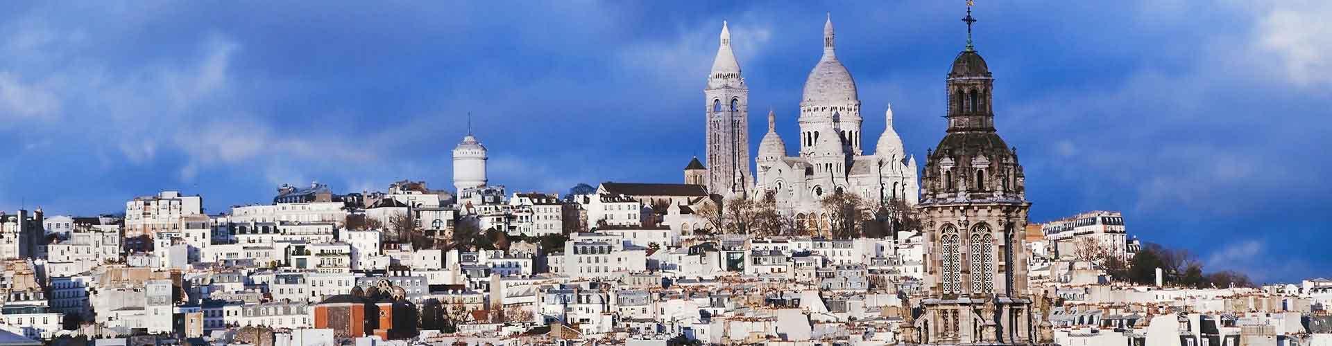 Paris - Auberges de jeunesse dans le quartier de Montmartre. Cartes pour Paris, photos et commentaires pour chaque auberge de jeunesse à Paris.