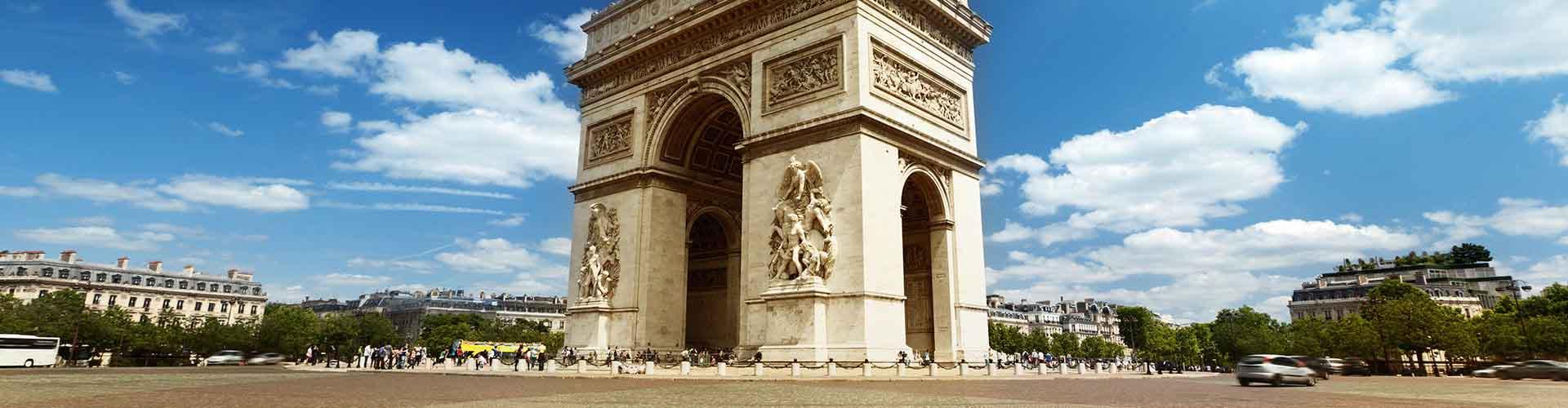 Paris - Auberges de jeunesse près de Arc de Triomphe. Cartes pour Paris, photos et commentaires pour chaque auberge de jeunesse à Paris.