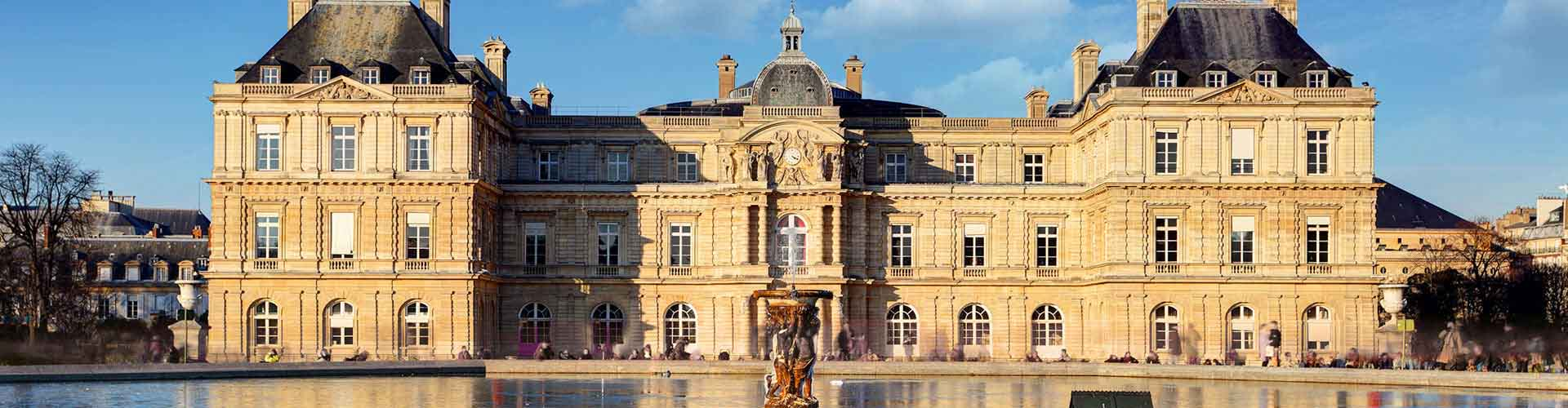 Paris - Auberges de jeunesse près de Palais du Luxembourg. Cartes pour Paris, photos et commentaires pour chaque auberge de jeunesse à Paris.