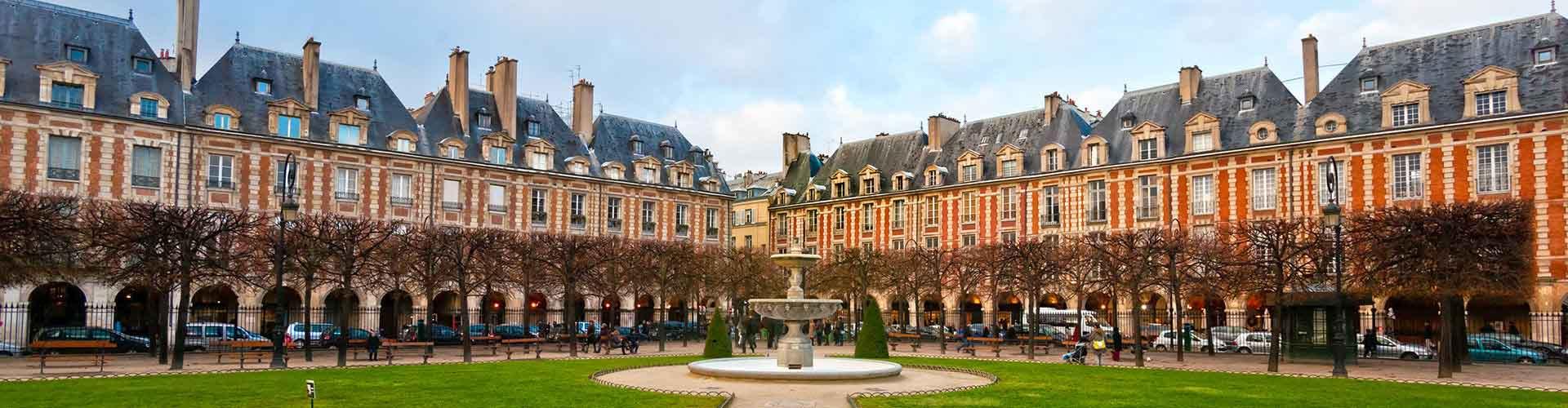 Paris - Appartements près de Place des Vosges. Cartes pour Paris, photos et commentaires pour chaque appartement à Paris.