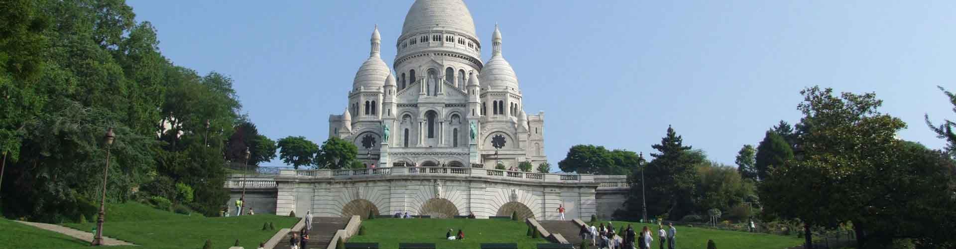 Paris - Chambres près de Basilique du Sacré-Cœur. Cartes pour Paris, photos et commentaires pour chaque chambre à Paris.