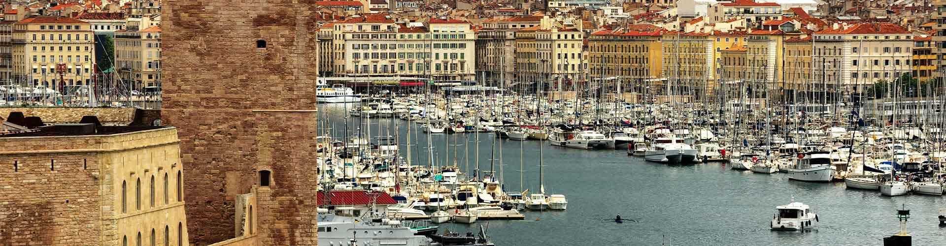 Marseille - Hôtels dans le quartier de Quatrième secteur. Cartes pour Marseille, photos et commentaires pour chaque hôtel à Marseille.