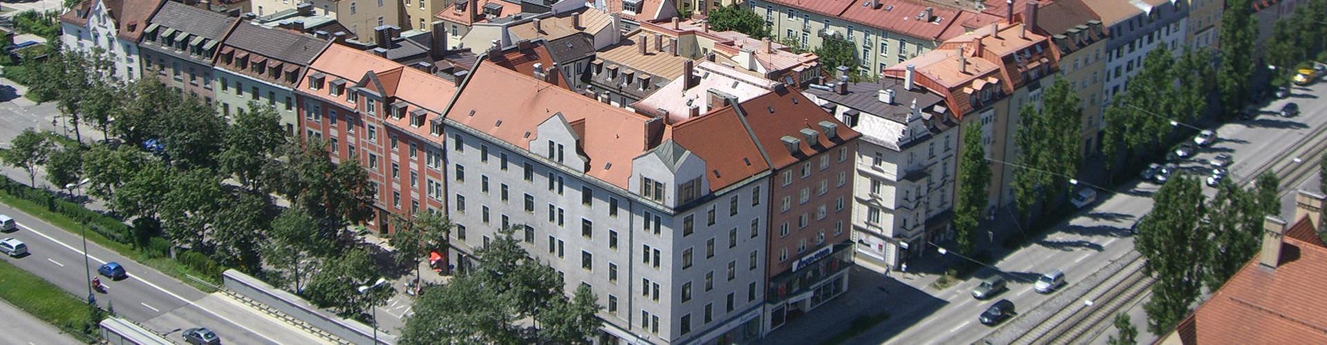 Munich - Chambres pas chères dans le quartier de Westend. Cartes pour Munich, photos et commentaires pour chaque chambre à Munich.