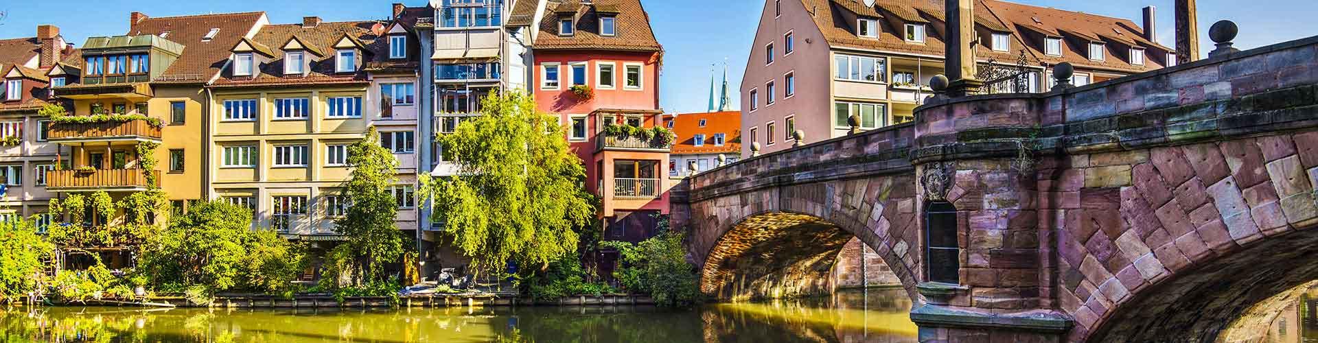 Nuremberg - Auberges de jeunesse dans le quartier de Altstadt. Cartes pour Nuremberg, photos et commentaires pour chaque auberge de jeunesse à Nuremberg.