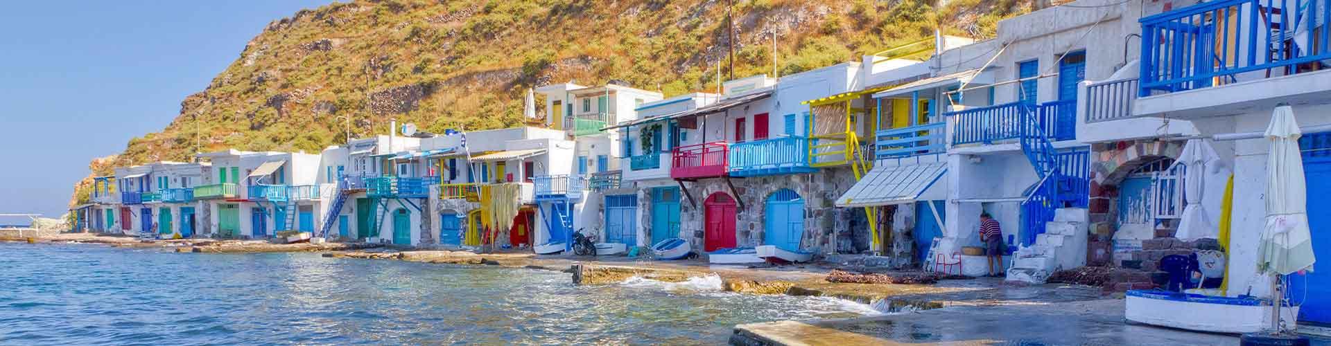 Milos - Auberges de jeunesse à Milos. Cartes pour Milos, photos et commentaires pour chaque auberge de jeunesse à Milos.