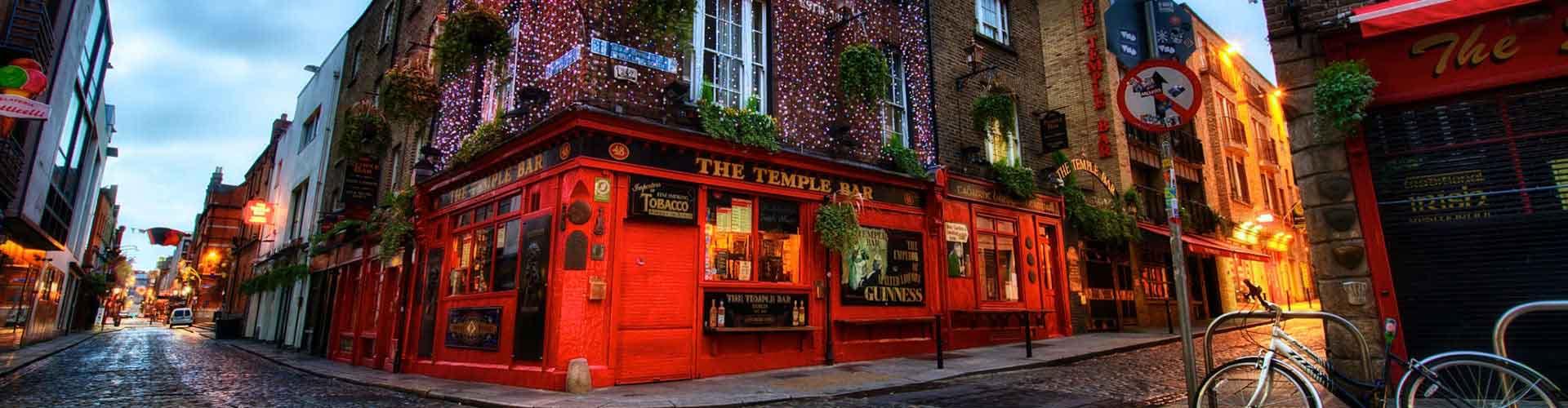 Dublin - Camping dans le quartier de Temple Bar. Cartes pour Dublin, photos et commentaires pour chaque camping à Dublin.