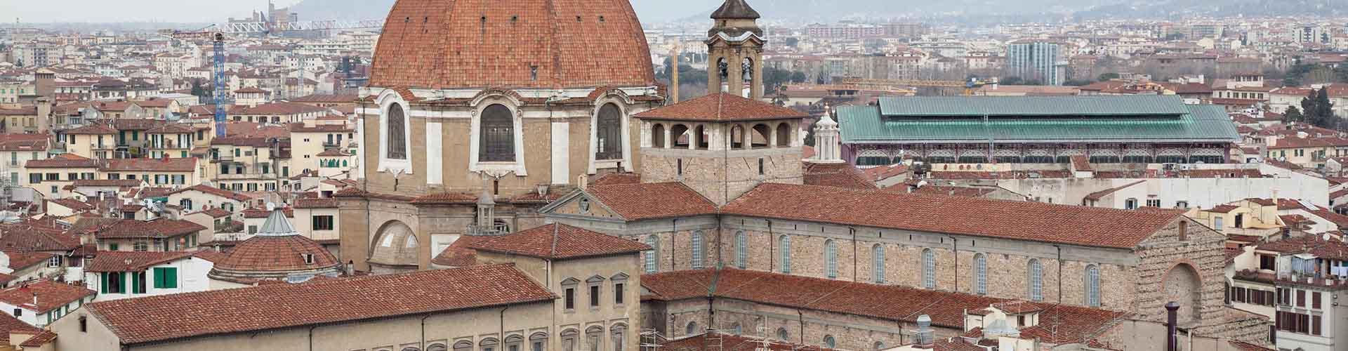Florence - Auberges de jeunesse dans le quartier de San Lorenzo. Cartes pour Florence, photos et commentaires pour chaque auberge de jeunesse à Florence.
