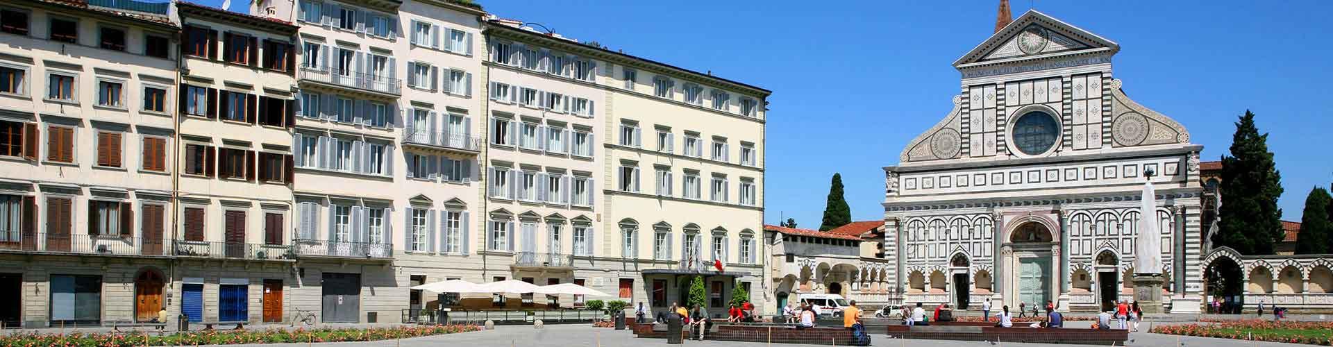 Florence - Auberges de jeunesse dans le quartier de Santa Maria Novella. Cartes pour Florence, photos et commentaires pour chaque auberge de jeunesse à Florence.