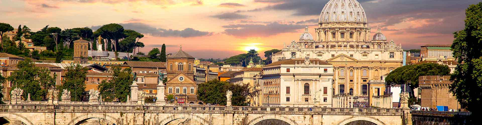 Rome - Hôtels dans le quartier de Medaglie d'Oro. Cartes pour Rome, photos et commentaires pour chaque hôtel à Rome.
