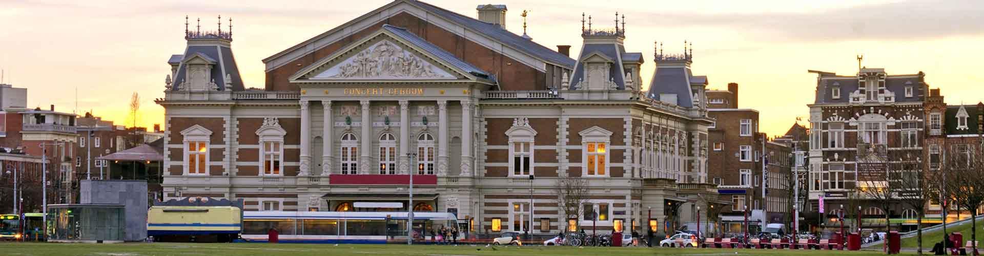 Amsterdam - Auberges de jeunesse près de Concertgebouw. Cartes pour Amsterdam, photos et commentaires pour chaque auberge de jeunesse à Amsterdam.
