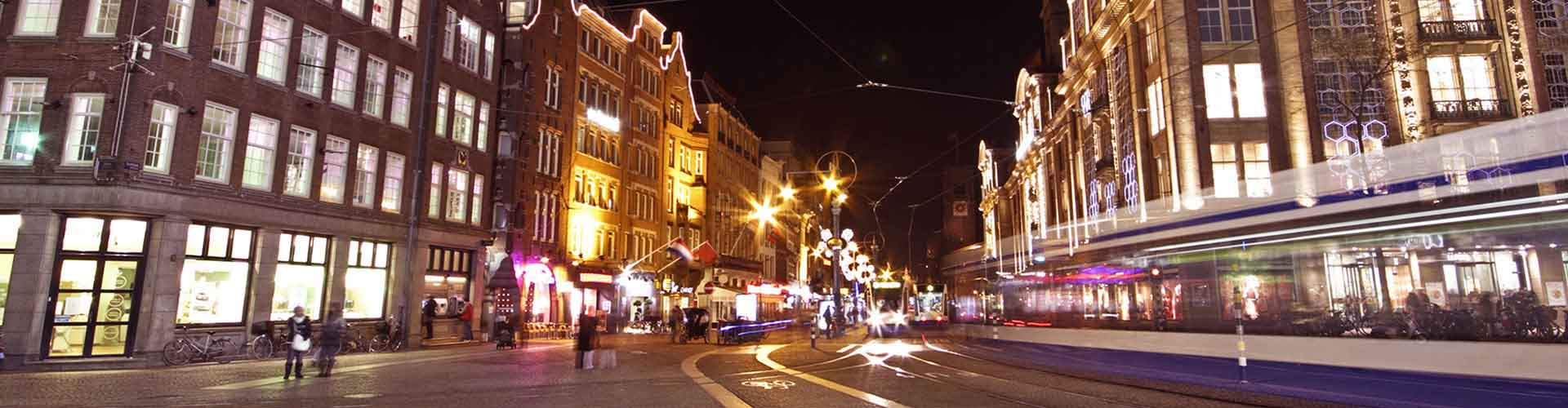 Amsterdam - Auberges de jeunesse près de Place du Dam. Cartes pour Amsterdam, photos et commentaires pour chaque auberge de jeunesse à Amsterdam.