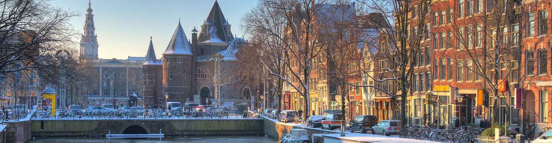 Amsterdam - Camping près de Nieuwmarkt. Cartes pour Amsterdam, photos et commentaires pour chaque camping à Amsterdam.