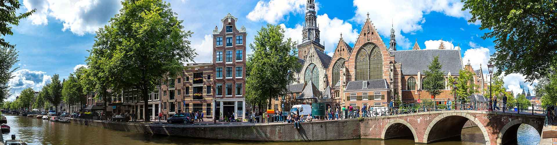 Amsterdam - Auberges de jeunesse près de Oude Kerk. Cartes pour Amsterdam, photos et commentaires pour chaque auberge de jeunesse à Amsterdam.