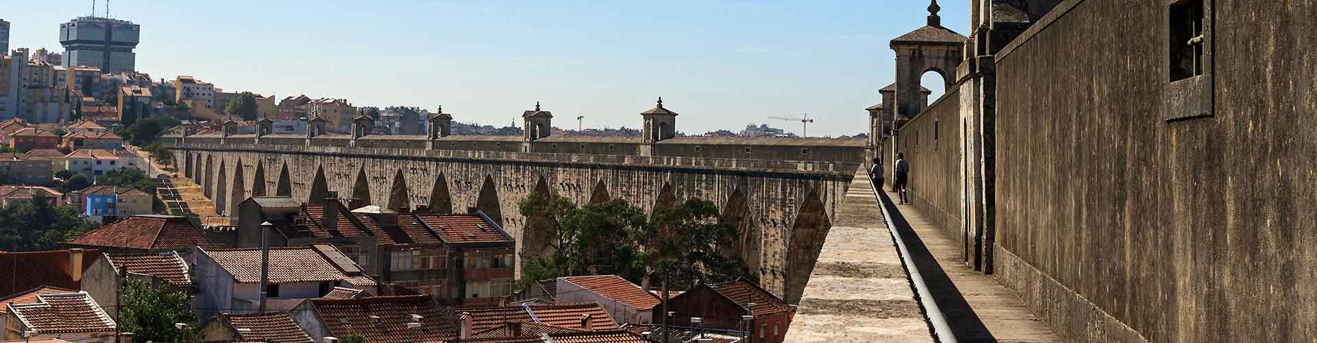Lisbonne - Chambres près de Aqueduc Águas Livres. Cartes pour Lisbonne, photos et commentaires pour chaque chambre à Lisbonne.