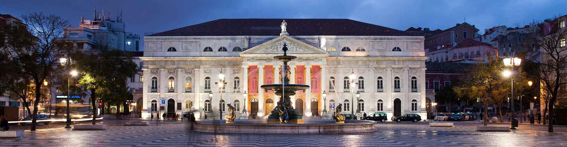 Lisbonne - Auberges de jeunesse près de Rossio avec Teatro Nacional D. Maria II. Cartes pour Lisbonne, photos et commentaires pour chaque auberge de jeunesse à Lisbonne.