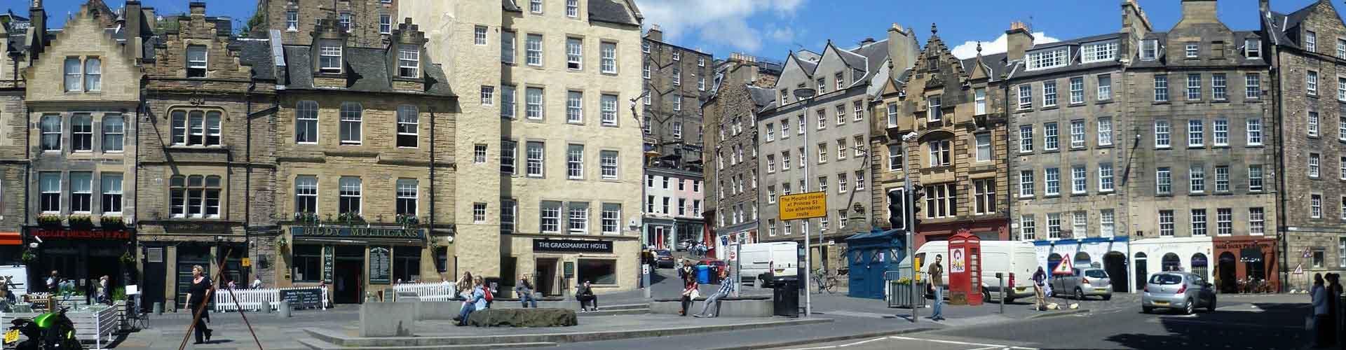 Edimbourg - Chambres pas chères dans le quartier de The Grassmarket. Cartes pour Edimbourg, photos et commentaires pour chaque chambre à Edimbourg.
