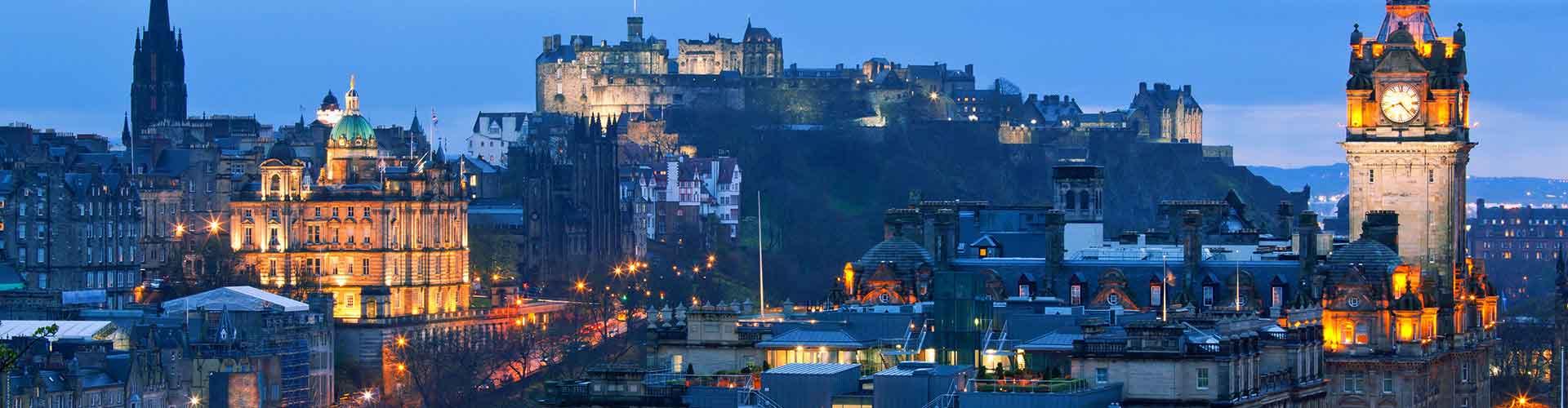 Edimbourg - Camping dans le quartier de New Town. Cartes pour Edimbourg, photos et commentaires pour chaque camping à Edimbourg.