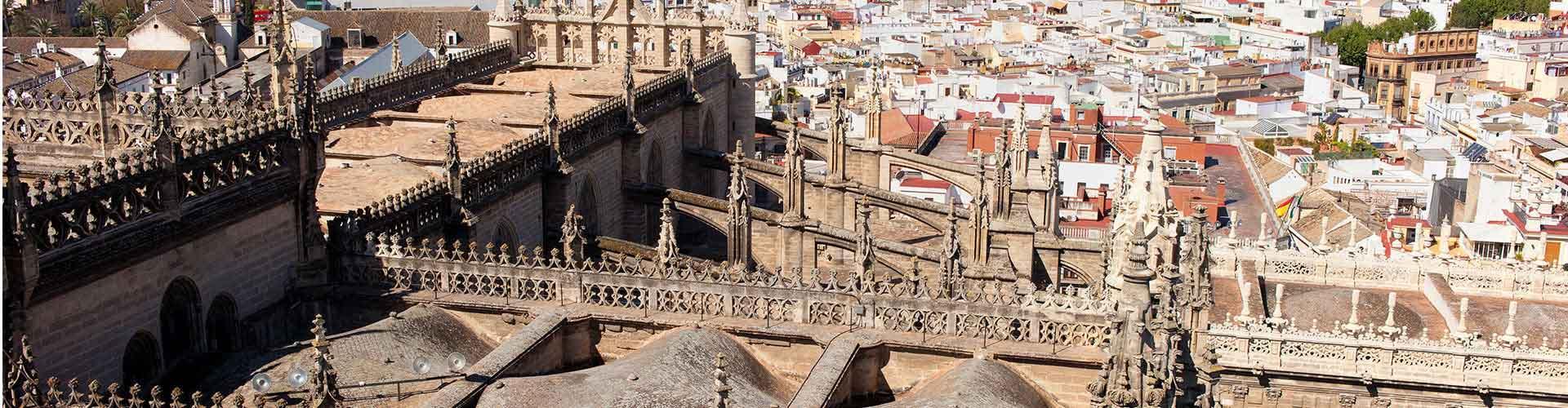 Seville - Auberges de jeunesse dans le quartier de El Arenal. Cartes pour Seville, photos et commentaires pour chaque auberge de jeunesse à Seville.