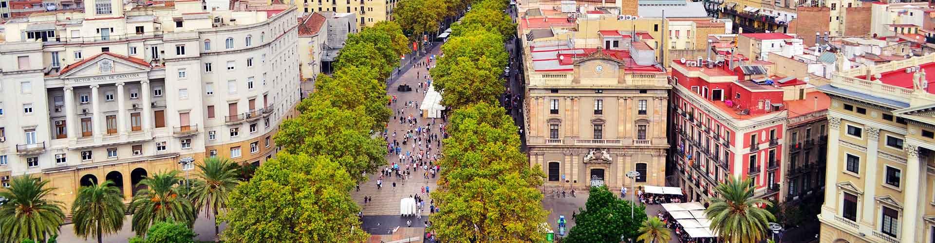 Barcelone - Auberges de jeunesse près de Las Ramblas. Cartes pour Barcelone, photos et commentaires pour chaque auberge de jeunesse à Barcelone.