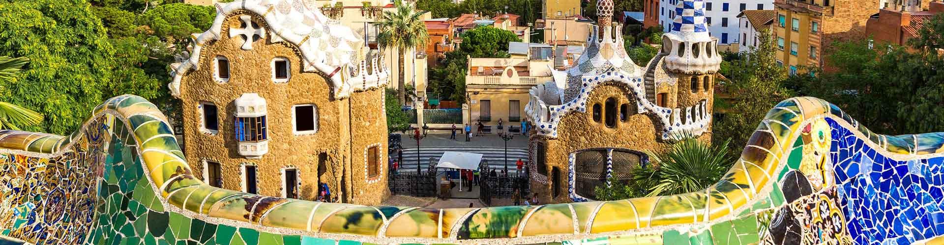 Barcelone - Camping près de Parc Güell. Cartes pour Barcelone, photos et commentaires pour chaque camping à Barcelone.
