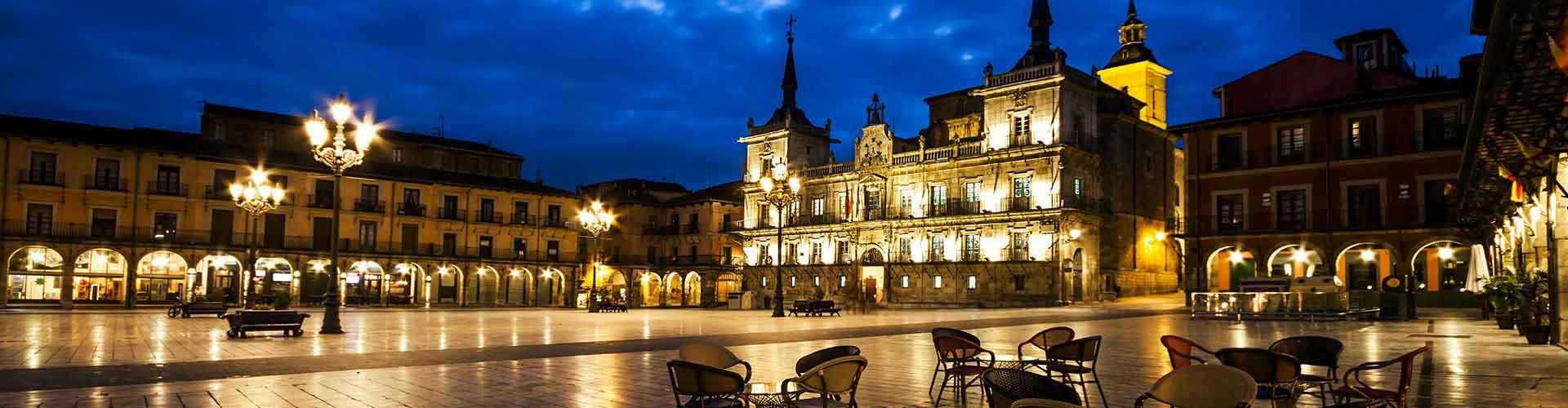 Leon - Hôtels à Leon. Cartes pour Leon, photos et commentaires pour chaque hôtel à Leon.