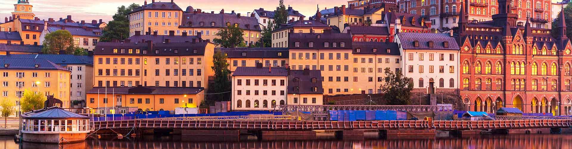 Stockholm - Camping dans le quartier de Södermalm. Cartes pour Stockholm, photos et commentaires pour chaque camping à Stockholm.